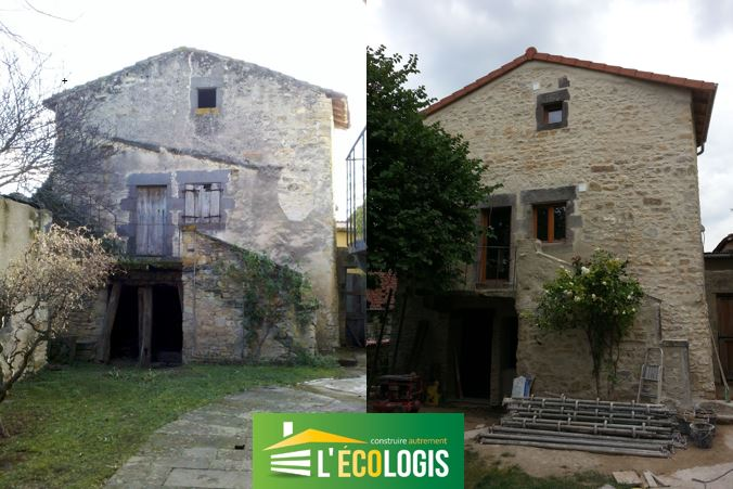 L 39 eco logis construire autrement constructions for Renovation facade maison ancienne